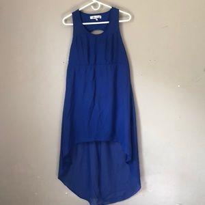 Blue Short Long Fashion Dress Size S